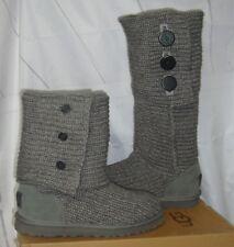 UGG Australia Grey Gray Classic Cardy Knit Tall Boots Size US 10,EU 41  #5819