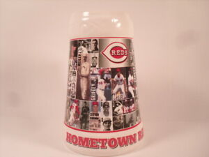 "Cincinnati Reds Ceramic Beer Stein 1999 SGA ""Hometown Reds"""