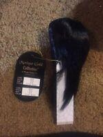 """New Monique Gold Wig """"Jojo"""" Sz 8/9, Off Black, original pkg=====ak"""