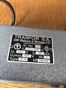Trasfor S.a Transformer 110-240v Type Hh4