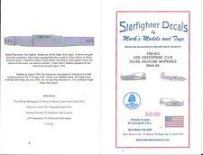 Starfighter USS Enterprise CV-6 AG-20,(N)90, Aircraft Mrkgs. Decals 1/700 103 ST