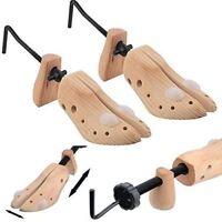 2X MEN Pine Wood Boot Shoe Tree Stretcher Wooden Shaper Bunion Width Size 6-12
