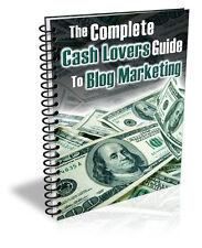 Cash Lover's BLOG MARKETING GUIDE For Profitable Blogs - Hot New & Complete (CD)