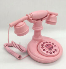 Fashion Originality Lovely Retro Phone Pink Fixed Machine Free shipping
