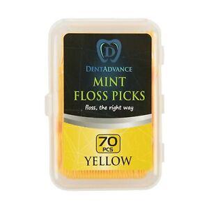 DentAdvance Dental Floss Picks - Yellow - Mint Flavored - 70 ct.