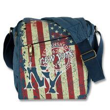 Robin Ruth Bolso de Hombro Lona Mate Azul Varios Colores Bandera EE.UU. New York