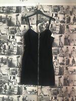 Brand New Womens Black Zip Through Denim Dress Size 10