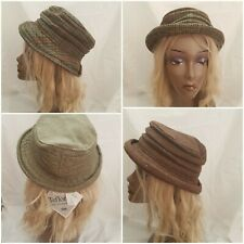 DuPont Teflon-Coated Tweed Cloche-Style Hat 4 Tweed Patterns S M L XL
