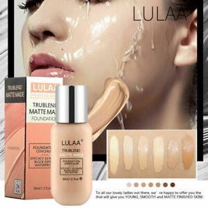 LULAA Foundation Matte Oil Control Concealer Liquid Foundation Cream Makeup 35ml