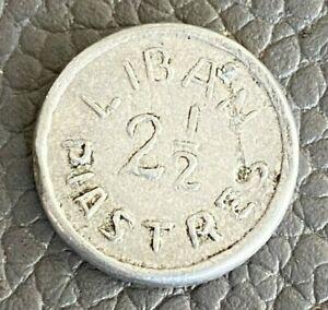 Lebanon 1941 2-1/2 piastres coin, aluminum