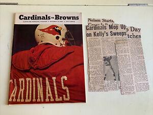 1968 Cleveland Browns St Louis Cardinals Football Program