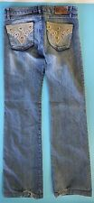 Studio F Colombian Jeans Levanta Cola Suede Leather Studs Embellished 8 Columbia