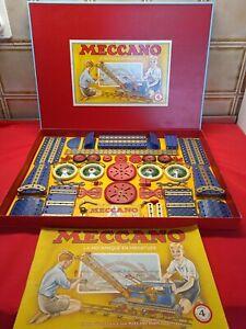 Meccano ancien 1951/52 boîte n° 4 complète grapper avec notice RARE superbe TTBE