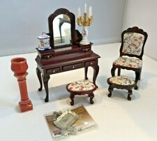 Dolls House 1/12 Bedroom Furniture Dressing Table & Accessories F680