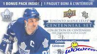 2017 Upper Deck Toronto Maple Leafs Centennial Hockey Factory Sealed Blaster Box