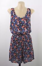 Size M 12 Boohoo Ladies Floral Jump Suit Shorts Casual Gypsy Boho Chic Style