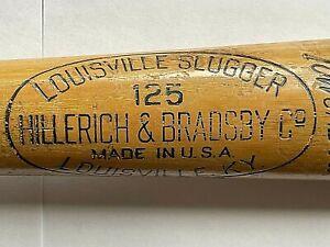 "VTG Hillerich & Bradsby #125 LOUISVILLE SLUGGER Baseball Bat ED MATHEWS HOF 34"""
