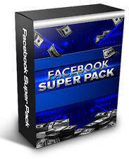 Facebook Super Pack - Make Money Using Facebook / Facebook Course on A CD
