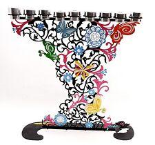 Hand Made High Design Hanukia In Color Metal Made #2