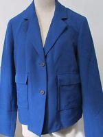 SALE NWT Anne Klein Two-Button Solid Blazer Jacket Blue Size 14