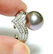 Gorgeous Natural Colors Edison Round 10 - 10.5mm Cultured Pearl Ring Size 5 - 6