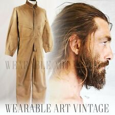 BOILER SUIT 40s 50s WORK WEAR JEANS OVERALLS CHORE TROUSERS VINTAGE INDUSTRIAL