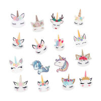 10pcs/lot Cute Cartoon Unicorn Resin DIY Accessories Handmade Hair Bow Crafts