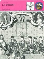 FICHE CARD Les Intendants Police Richelieu XVIIe Henri IV-Louis XIV France 90s