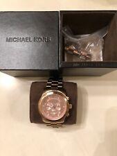 Michael Kors Runway Chronograph MK8077 Wrist Watch for Men/Women Rose Gold