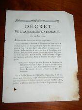 303-REVOLUTION 1791 fuite de Varennes: Etablissement de Gardes aux diff. Dépôts