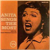 ANITA O'DAY ANITA SINGS THE MOST CD VERVE USA OSCAR PETERSON NEAR MINT