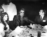 ELVIS AND PRISCILLA PRESLEY @ A JAYCEES RECEPTION IN 1970 - 11X14 PHOTO (LG-061)