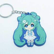 New Anime Vocaloid Hatsune Miku 初音ミク Rubber Silicone Keyring Keychain #R7