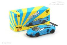 LB Works Lamborghini Aventador (RHD) Light Blue-Mini GT 1:64 mgt00057-r