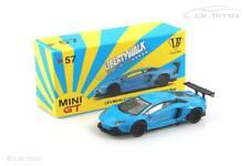LB Works Lamborghini Aventador (RHD) Light blue - MINI GT 1:64 MGT00057-R