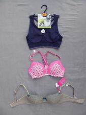 NEW bras M&S Sports bra, Gilly Hicks & No Secret underwired/padded Size 32 B
