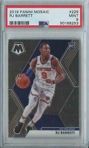 RJ Barrett 2019 20 Panini mosaic basketball #229 New York Knicks RC rookie PSA 9