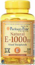 Puritans Pride Vitamin E-1000 Iu Mixed Tocopherols Natural-100 Softgels, 100 Co