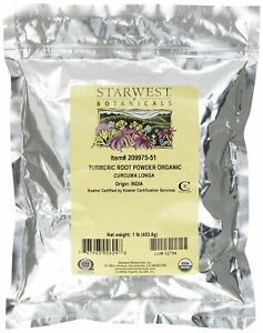 Starwest Botanicals Organic Turmeric Root Powder 1 Pound Bulk