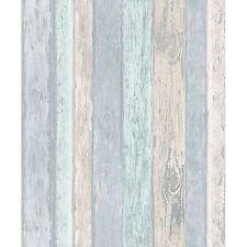 Crown Coloroll Beach Hut Blue Glitter Wood Panel Cladding Wallpaper (M1062)