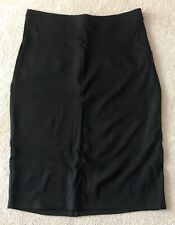 Dorothy Perkins Petite Black Stretch Midi Skirt Size 12