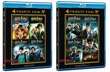 Harry Potter 8 BLU RAY - la Collezione Completa - In Due Cofanetti Separati