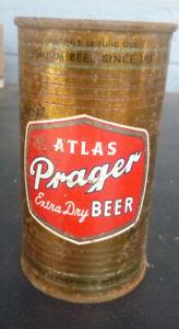 vintage Atlas Prager flat Top Beer Can Chicago Ill Bitter Free Keglined Got it