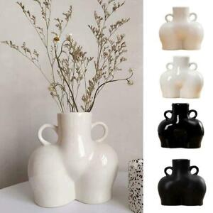 Vase Ceramics Human Body Bum Nude Abstract Flower Vase New Home Decoration  Fast