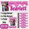 PERSONALISED PHOTO BIRTHDAY PARTY BANNER PACKS ANY AGE, ANY NAME, ANY EVENT