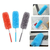 EE_ Telescopic Extend Microfiber Duster Dusting Brush Desk Soft Cleaning Tool My