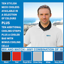 Neck Coolers 10 pack + Xtra Cooling strips + Cooler bag - YOUR CHOICE OF COLOURS