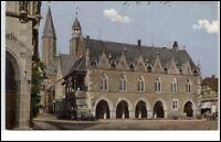 Goslar Niedersachsen alte Postkarte 1910 Strassen Partie am Rathaus ungelaufen