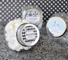 96 Elite Wedding Personalized Candy Jars Favors Lot