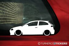 2x Lowered car outline stickers - for Seat Ibiza mk3 Cupra 1.8t, FR,TDi